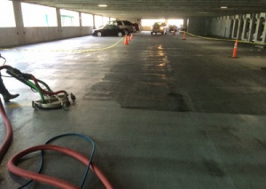 Parking Garage Power Washing